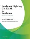Sunbeam Lighting Co Et Al V Sunbeam