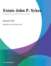 Download and Read Online Estate John P. Sykes