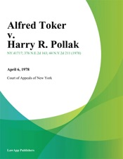 Download and Read Online Alfred Toker v. Harry R. Pollak
