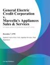General Electric Credit Corporation V Marcellas Appliances Sales  Services