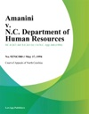 Amanini V NC Department Of Human Resources