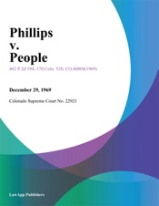 Download and Read Online Phillips v. People