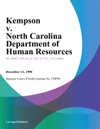 Kempson V North Carolina Department Of Human Resources