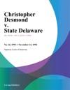111494 Christopher Desmond V State Delaware
