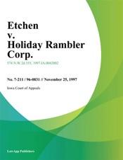 Download Etchen v. Holiday Rambler Corp.