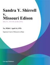 Sandra Y. Shirrell V. Missouri Edison