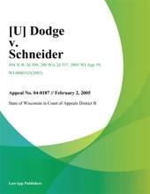 Dodge v. Schneider