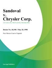 Sandoval v. Chrysler Corp.