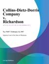 Collins-Dietz-Morris Company V Richardson