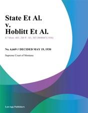 Download and Read Online State Et Al. v. Hoblitt Et Al.