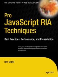 Pro Javascript Ria Techniques