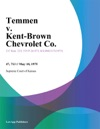 Temmen V Kent-Brown Chevrolet Co