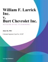 William F Larrick Inc V Burt Chevrolet Inc