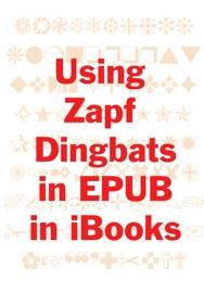 Using Zapf Dingbats in EPUB