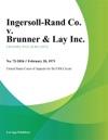 Ingersoll-Rand Co V Brunner  Lay Inc