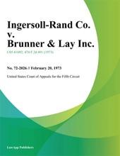 Ingersoll-Rand Co. v. Brunner & Lay Inc.