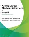 Necchi Sewing Machine Sales Corp V Necchi