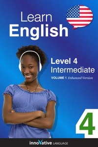 Learn English - Level 4: Intermediate English (Enhanced Version) Book Cover