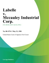 Labelle V. Mccauley Industrial Corp.