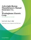 Arkwright-Boston Manufacturers Mutual Insurance Co V Westinghouse Electric Corp