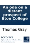 An Ode On A Distant Prospect Of Eton College