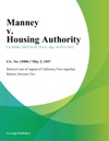 Manney V Housing Authority
