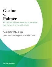 Gaston V. Palmer