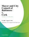 Mayor And City Council Of Baltimore V Cork