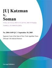 [U] Katzman V. Soman