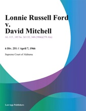 Lonnie Russell Ford V. David Mitchell