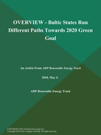 Overview Baltic States Run Different Paths Towards 2020 Green Goal