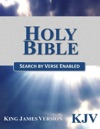 Holy Bible King James Version KJV Search By Verse Enabled
