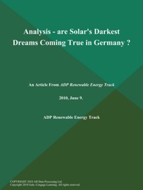 Analysis Are Solar S Darkest Dreams Coming True In Germany