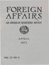 Foreign Affairs - April 1975