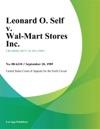 Leonard O Self V Wal-Mart Stores Inc