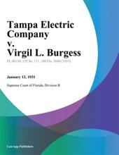 Tampa Electric Company V. Virgil L. Burgess