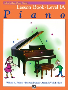 Alfred's Basic Piano Library - Lesson 1A Book Cover