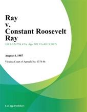 Ray V. Constant Roosevelt Ray