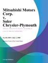 Mitsubishi Motors Corp V Soler Chrysler-Plymouth