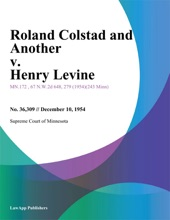 Roland Colstad And Another V. Henry Levine