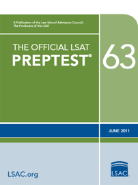 The Official LSAT PrepTest 63 book