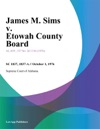 James M Sims V Etowah County Board