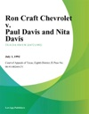 Ron Craft Chevrolet V Paul Davis And Nita Davis