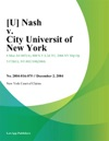Nash V City Universit Of New York