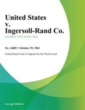 United States v. Ingersoll-Rand Co.