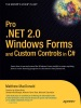 Pro .NET 2.0 Windows Forms and Custom Controls in C#