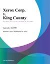 Xerox Corp V King County