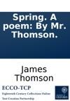 Spring A Poem By Mr Thomson