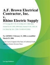 A.F. Brown Electrical Contractor