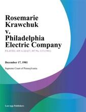 Rosemarie Krawchuk V. Philadelphia Electric Company